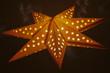 canvas print picture - beleuchteter stern