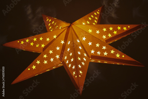 canvas print picture beleuchteter stern