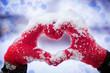Obrazy na płótnie, fototapety, zdjęcia, fotoobrazy drukowane : Making heart symbol