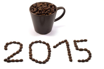 The new year 2015 coffee