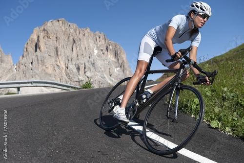Poster Vélo de course d'entraînement dur