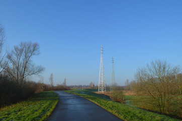 electricity pole in countryside