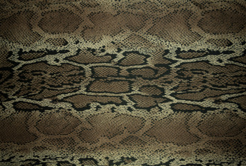 texture of print fabric stripes snake for background