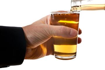 man behind glass of brandy