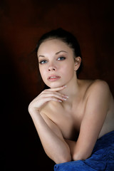 Portrait of the sexy girl with naked shoulders