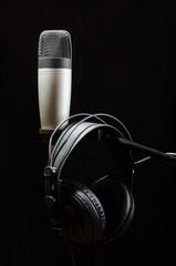 Professional audio recording equipment isolated