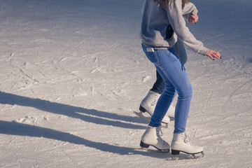 Young girl at the ice rink