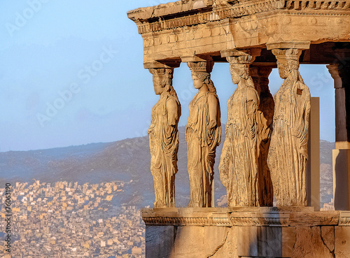 Foto op Canvas Athene Caryatides, Acropolis of Athens