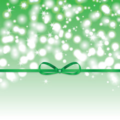 Abstract green sunny background with green ribbon