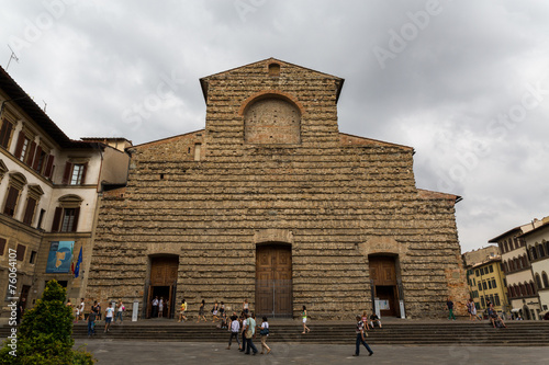 Florence, Italy, 04/08/2014 - Facade of the church of San Lorenz Poster