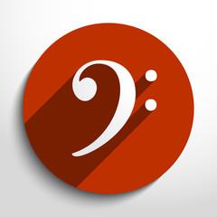 Vector bass key web icon.