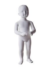Child mannequin isolated on white background. maneken