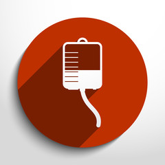 Vector medical dropper flat icon.