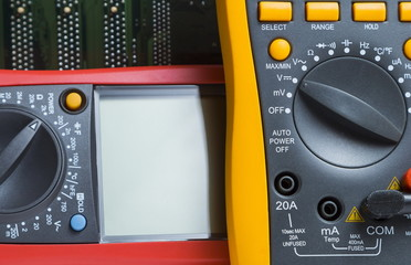 Multimeter. Instrument for measuring voltage