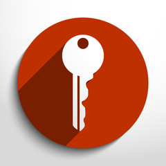 Vector key web icon.