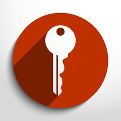 Vector key web icon.