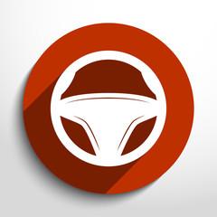 Vector steering wheel, web icon.