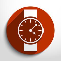 Vector watch, clock web icon.