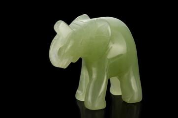 Green jade elephant figurine