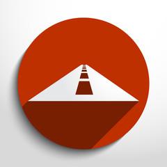 Vector road web icon.