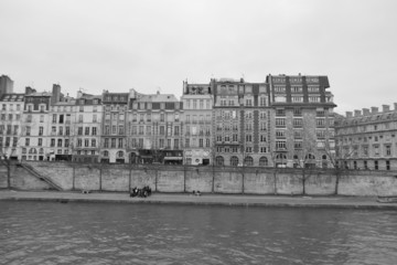 Embankment of the river Seine in Paris