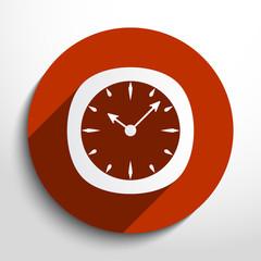 Vector clock web icon.