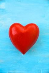 Postkarte - rotes Herz