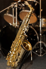 Saxophone on the stand