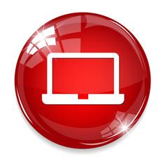Laptop Icon on Round Button