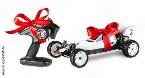 Leinwanddruck Bild rc car present