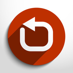 Vector update web icon.