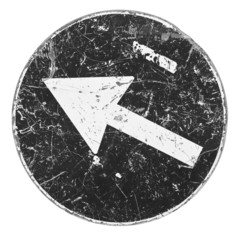 Black Arrow Sign concept image on white background