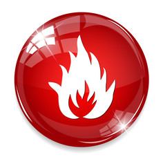 Flames fire button
