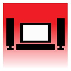 TV or Home Cinema Icon