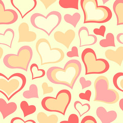 Color caramel All Lovers Day pattern. Seamless vector background