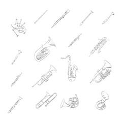 musical; saxophone