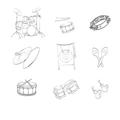 icons; illustrations; drums