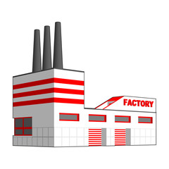 Factory in perspective projection.
