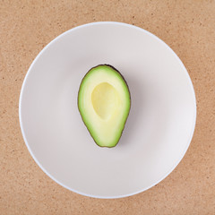 Half of avocado