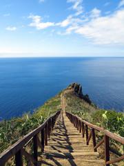 Treppe zu Aussichtspunkt in Garajau, Madeira