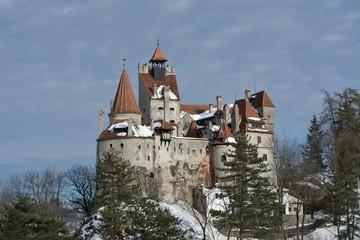 Dracula's Bran Castle in winter