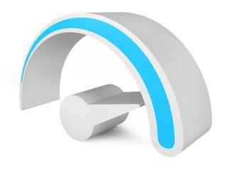 Speedometer. Abstract 3d symbol