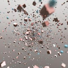 Esplosione di cubi