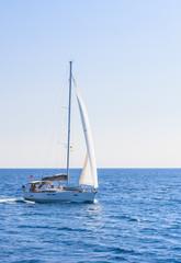 Yacht. Seascape. Greece