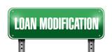 loan modification street sign illustration design poster