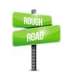 rough road street sign illustration design