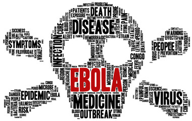 Conceptual tag cloud containing words related to ebola virus