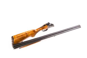 Disassembled hunting rifle