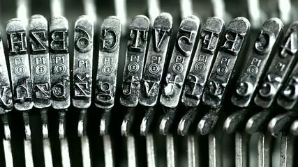 Typing  Metal types in the typewriter