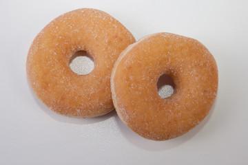 White homemade donuts
